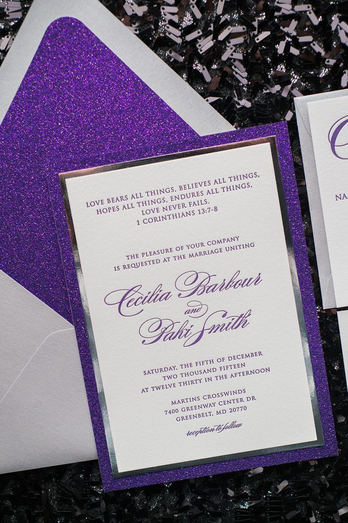 DIANE Suite Fancy Glitter Package, purple and silver wedding ...