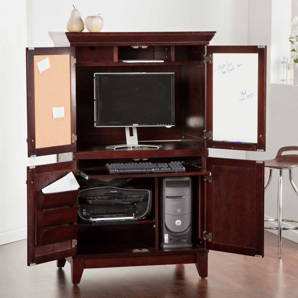 99 corner armoire computer desk real wood home office