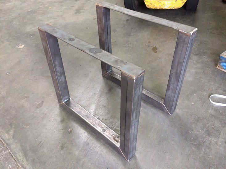 Tafel Onderstel Metaal : Metalen tafelonderstel in u vorm onderstel tafel pinterest
