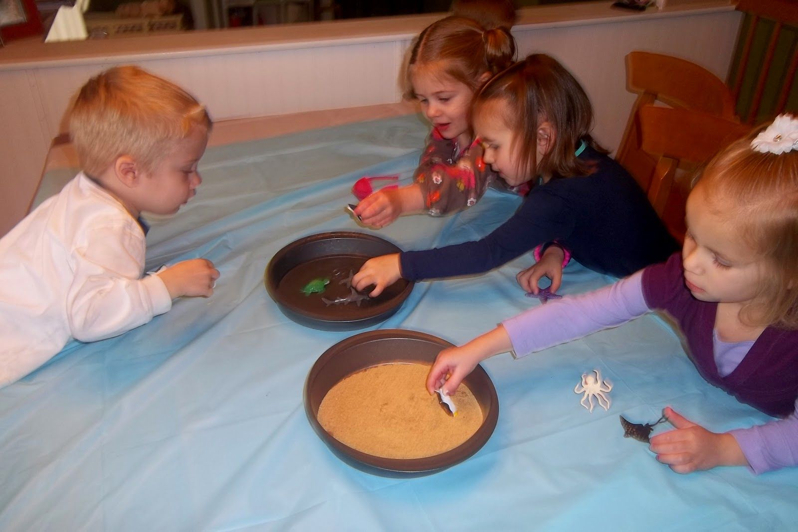 Cinnamon Graham Cracker Sand With Beach Creatures