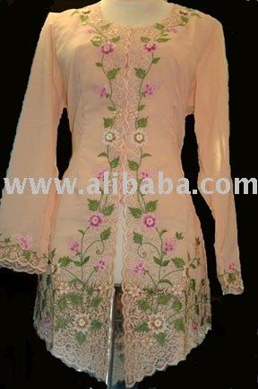 Peach Clothes Details | View Product Details: Kebaya Peach Color traditional clothes