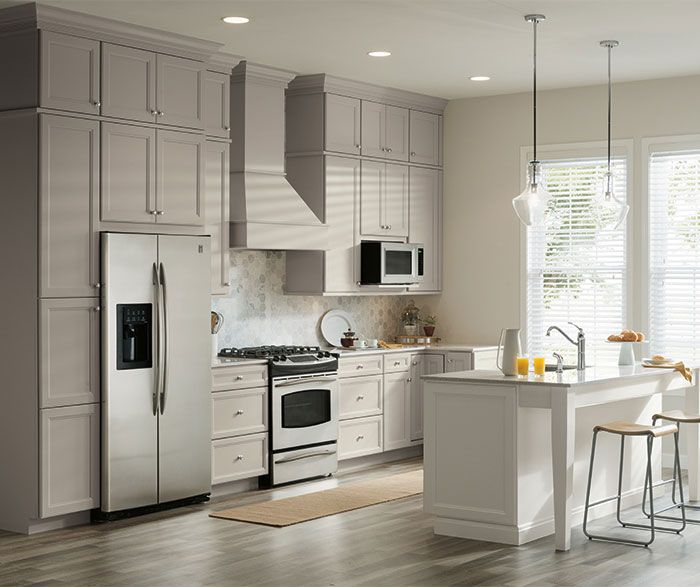 Using Two Finishes In Your Kitchen Is A Great Way To