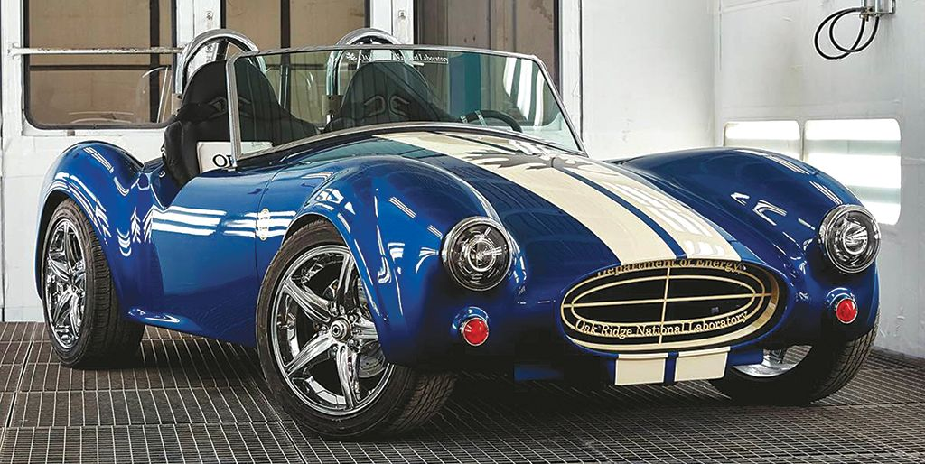 This Shelby Cobra replica  was built using carbon-fiber  additive manufacturing. Credit: Oak Ridge National Laboratory