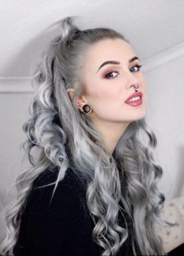 40 Cool Grey Hairstyles Ideas Gefarbte Graue Haare Graue Haare Jung Haare Rot Farben