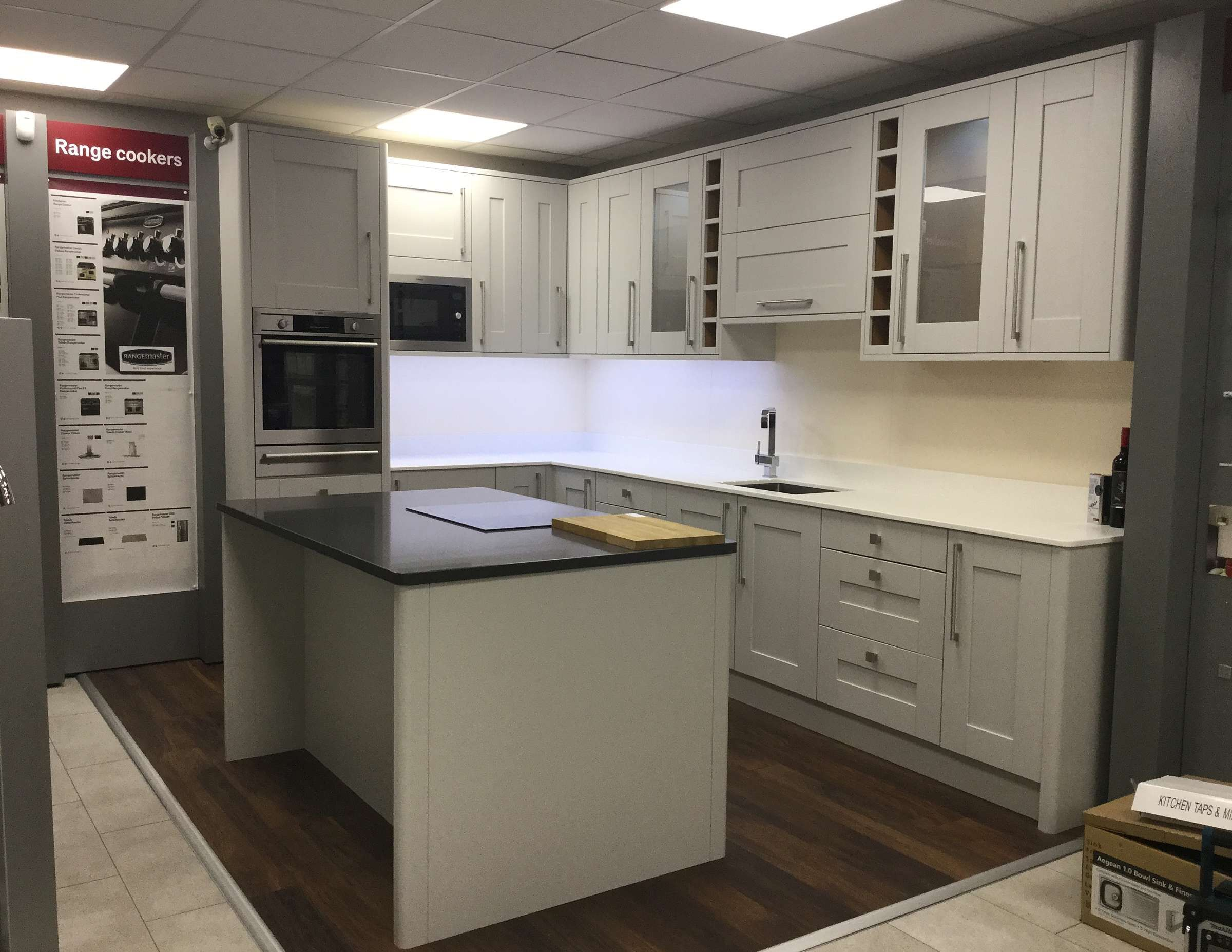 Sherwood Grey Display in Benchmarx Stockport Kitchen