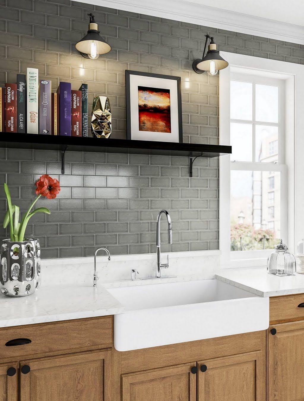 GrayGreen Kitchen with DropIn Sink Kitchen The Home
