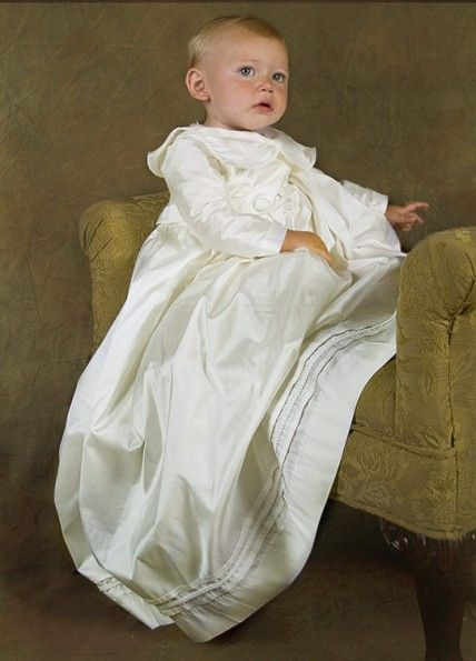 Boys baptismal gown...I love going the traditional route.   Faith ...