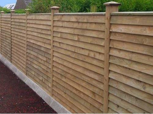 Overlap Horizontal Fence Horizontal Fence Fence Landscaping