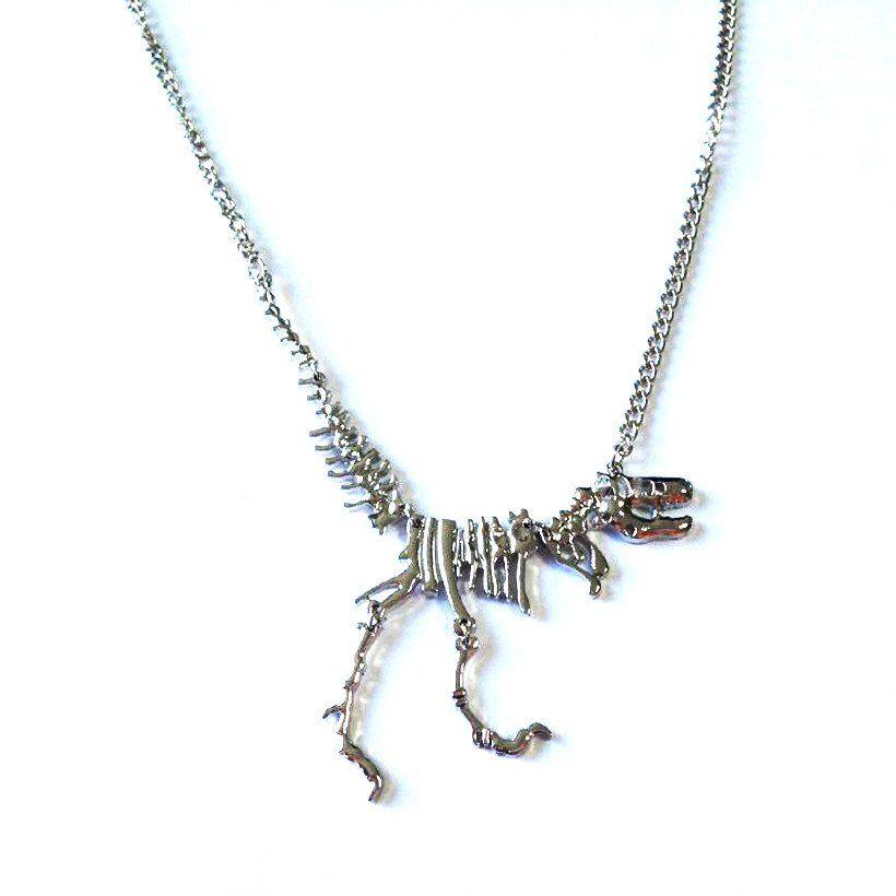 T Rex Skeleton Necklace Dinosaur Pendant Necklace Chain Types Skeleton Necklace