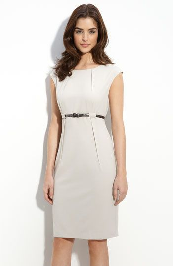 78ca5af829b1 calvin klein belted sheath dress. If I still had to wear professional  clothes.... I would rock it!