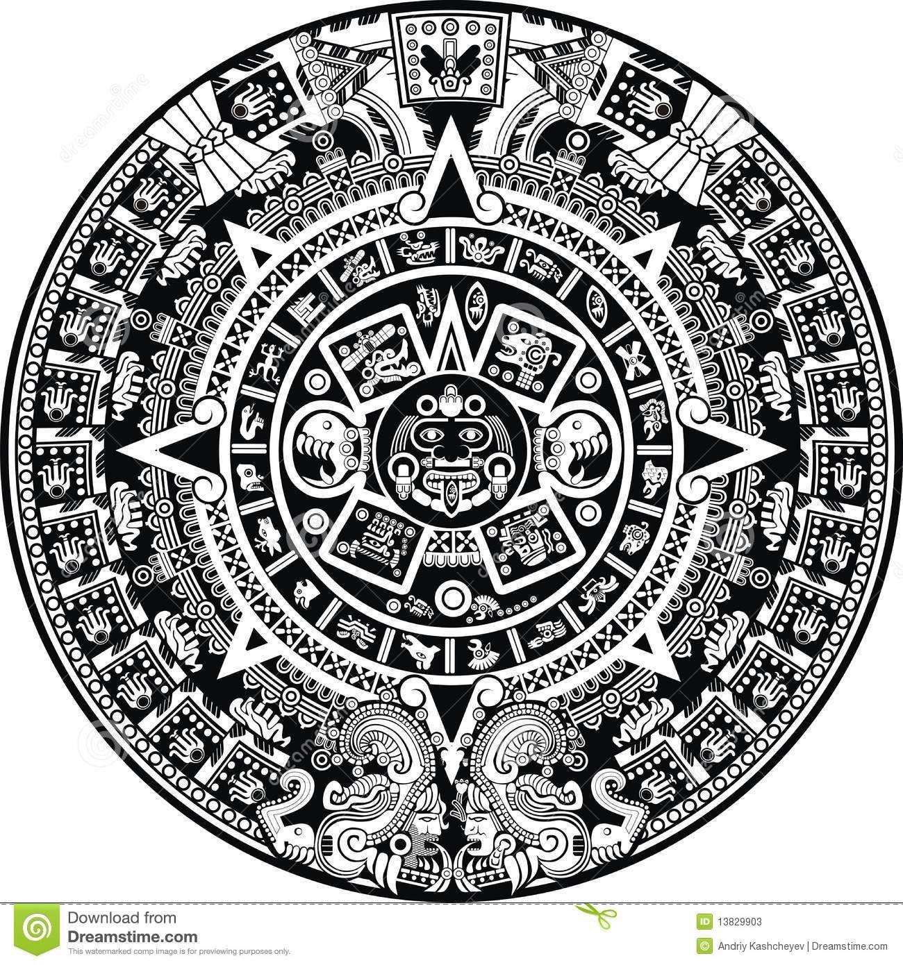 Mayakalender vektor abbildung. Illustration von mayakalender – 13829903
