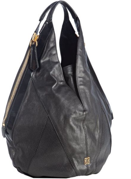 baca32e7bb Givenchy Black Black Textured Calfskin Tinhan Hobo