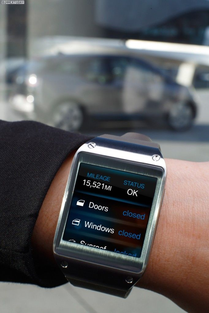 bmw i app f r samsung galaxy gear 2014 knight rider wird. Black Bedroom Furniture Sets. Home Design Ideas