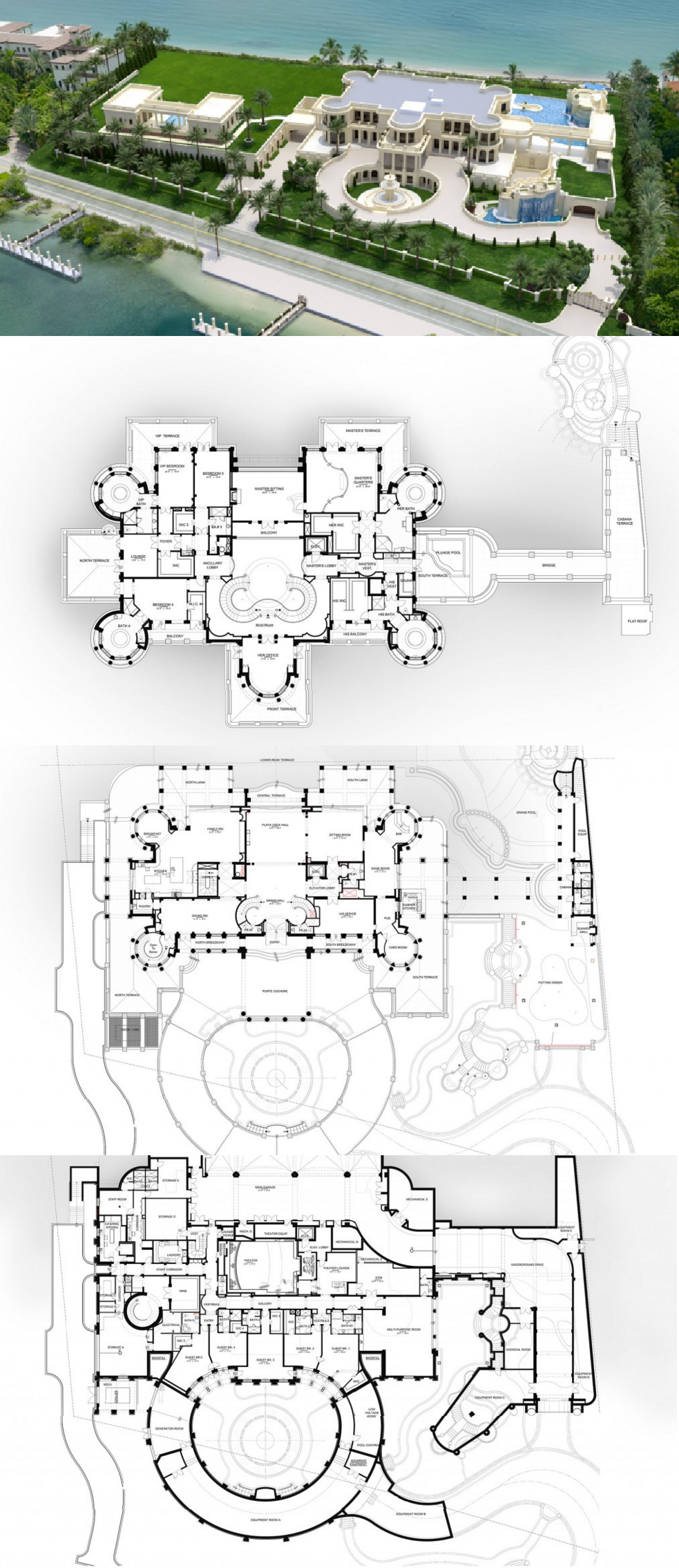 Floor Plans To The 60,000 Square Foot Le Palais Royal Oceanfront