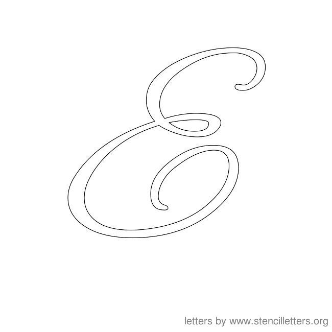 Worksheets Letter E In Cursive cursive letter stencils e pinterest the ojays e