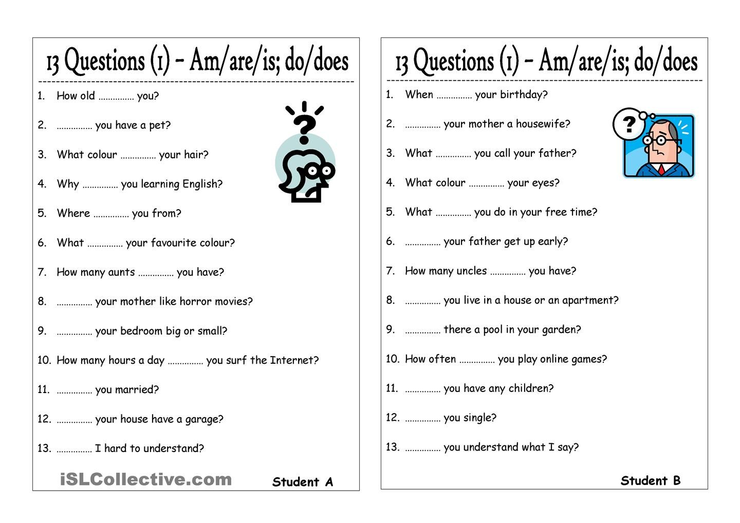 13 Questions 1 Am Are Is Do Does This Or That Questions Verb Worksheets Is Am Are Worksheets [ 1018 x 1440 Pixel ]