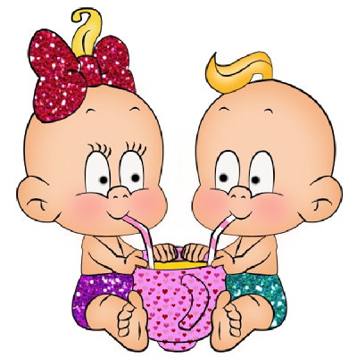Girl And Boy - Funny Baby Clip Art