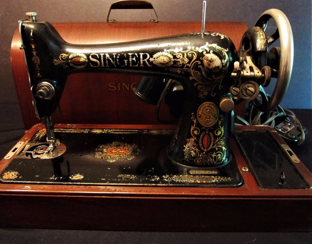 Antique 40 Singer Sewing Machine Model 40 With Bent Wood Domed Mesmerizing 1921 Singer Sewing Machine