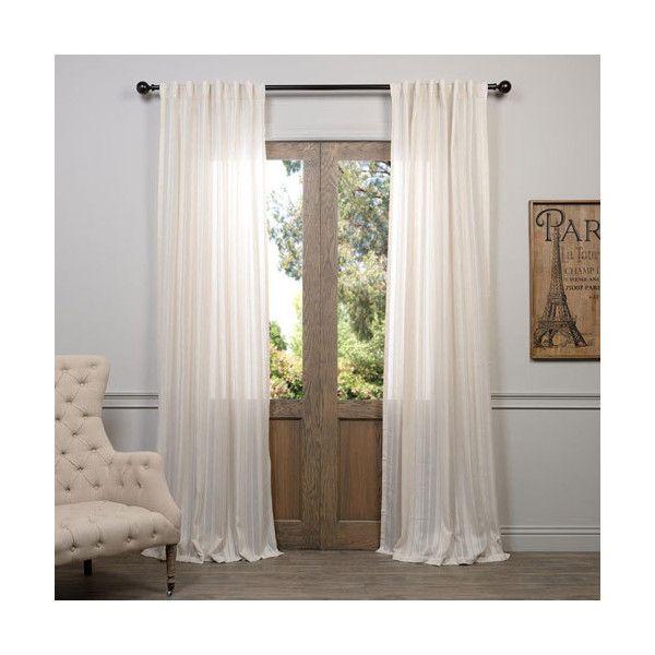 Half Price Drapes Cayman Stone Ivory Striped 96 X 50 Inch Curtain