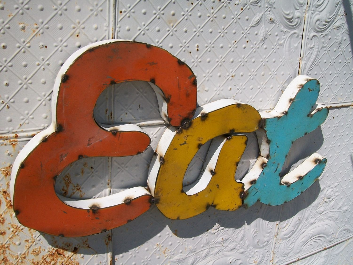 Metal Sign - Kitchen Wall Art - Food Letters I will use a ...