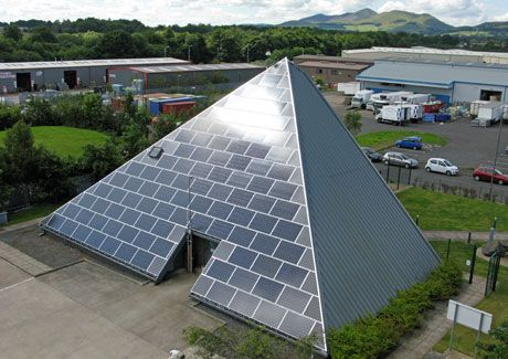A Solar Pyramid Shaped Office Building Solar Art