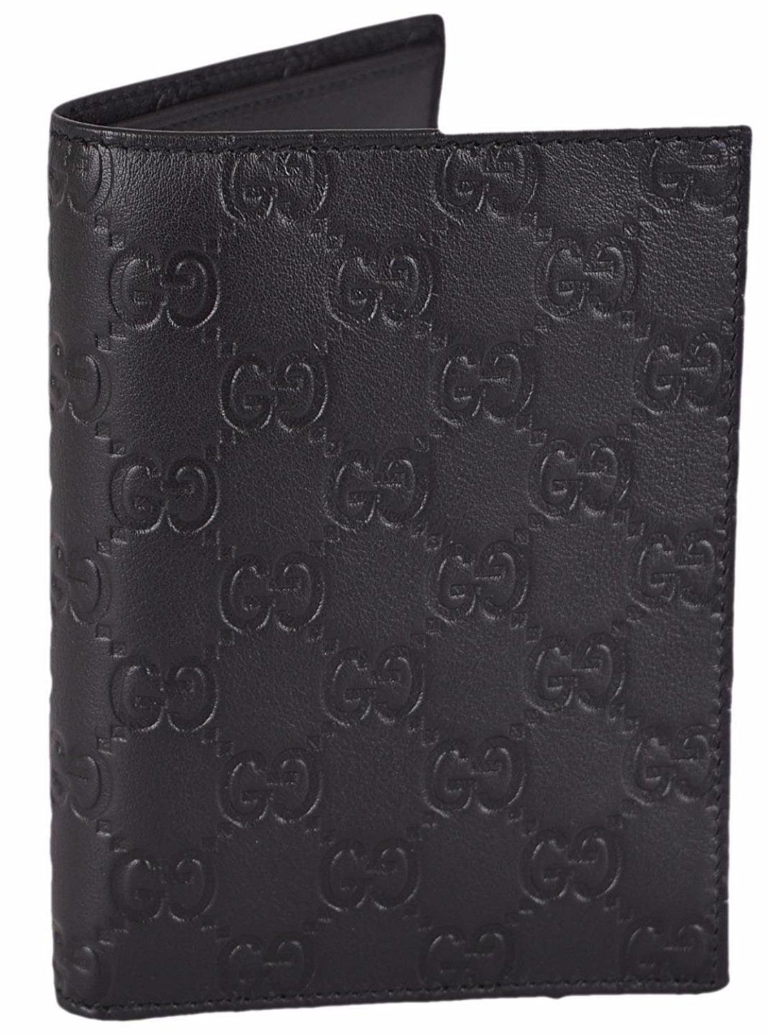 c1c88195984 Gucci Men s Black Leather GG Guccissima Passport Holder Bifold Wallet      Be sure to check out this awesome product. (This is an Amazon Affiliate  link)