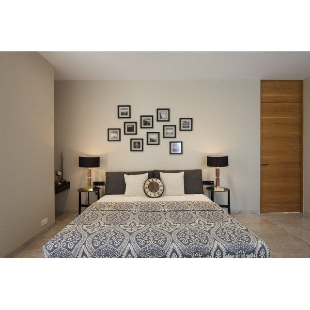 Doesn't had a headboard? Hang some photo frames to replace headboard function! #decoration #dekorasikamar #headborad #bedroom #bedroomdecoration #bedroominterior #bedroomdesign #desainkamartidur #kamartidur #frame #photoframe #interiorkamartidur #interior #interiordesign #desaininterior