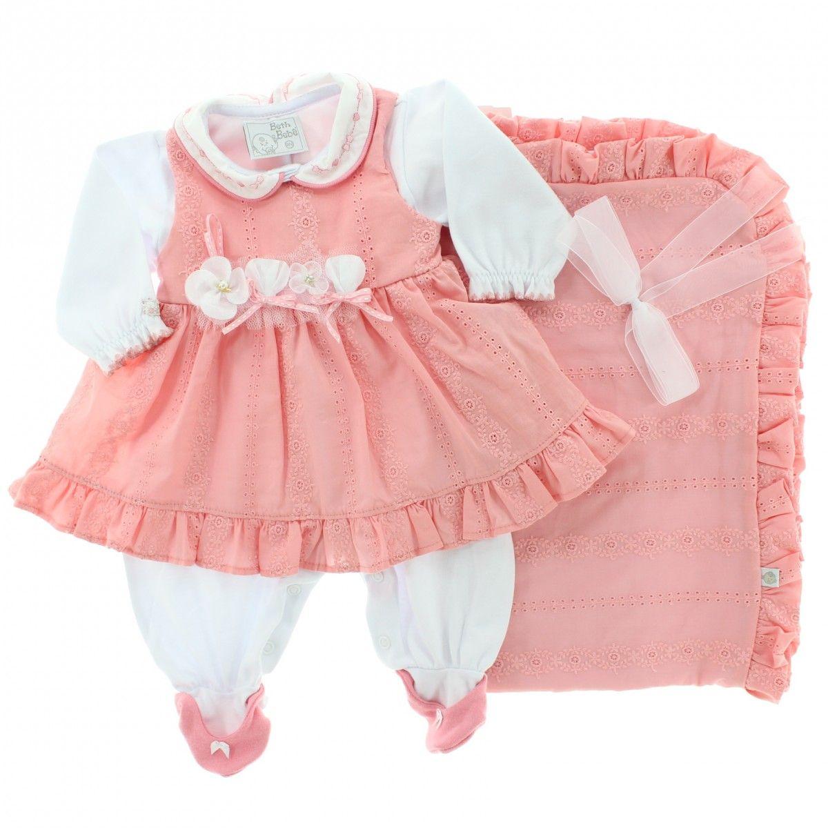 440d25be01 saida maternidade menina inverno 2 Roupas De Bebezinhas