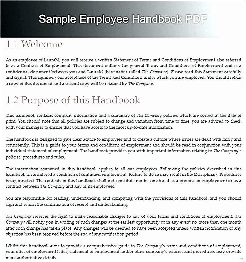 Employee Handbook Template Word In 2020 Employee Handbook