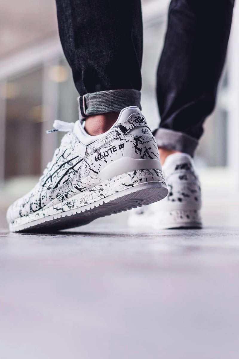 asics gel lyte iii red black&white wires
