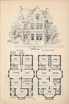 Artistic City Houses No 43 Victorian House Plans Vintage House Plans City House
