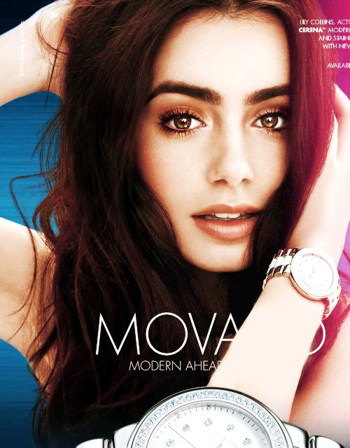 Lily Collins: MOVADO