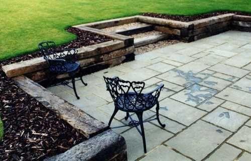 Arney Garden Design Portfolio Small, How To Build A Retaining Wall Around Patio