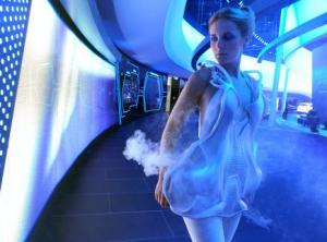 Smoke Dress, 3d printed by Anouk Wipprecht and Niccolò Casas