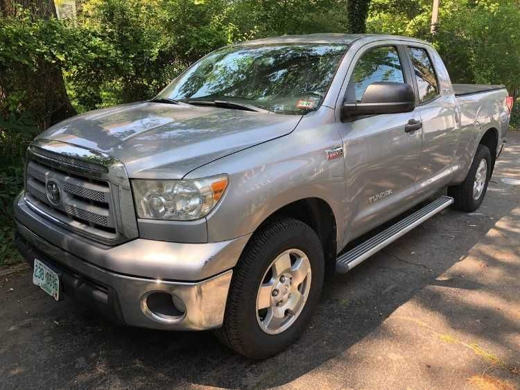 Silver 2010 Toyota Tundra TRD 5.7L Double Cab with 80