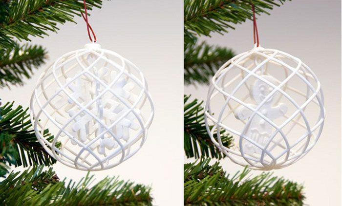 Snowflake 3d Printed Ornament Prints Christmas Ornaments Ornaments