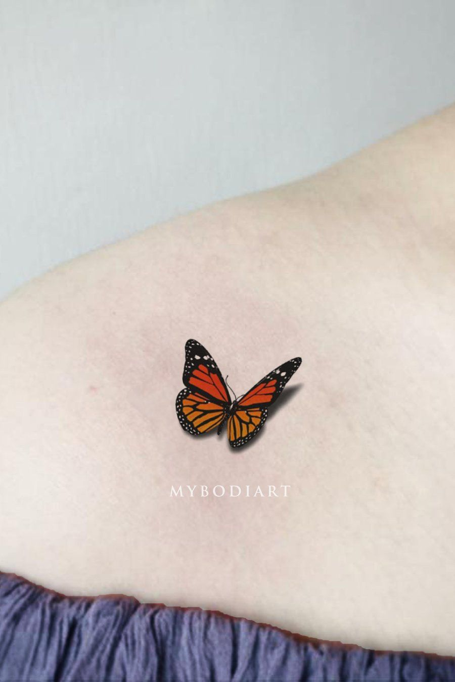 Flutter Small 3d Monarch Butterfly Tattoo Tattoo Ideas Mariposa