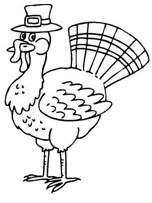 turkey coloring pages free - Thanksgiving Coloring Pages For Free 2