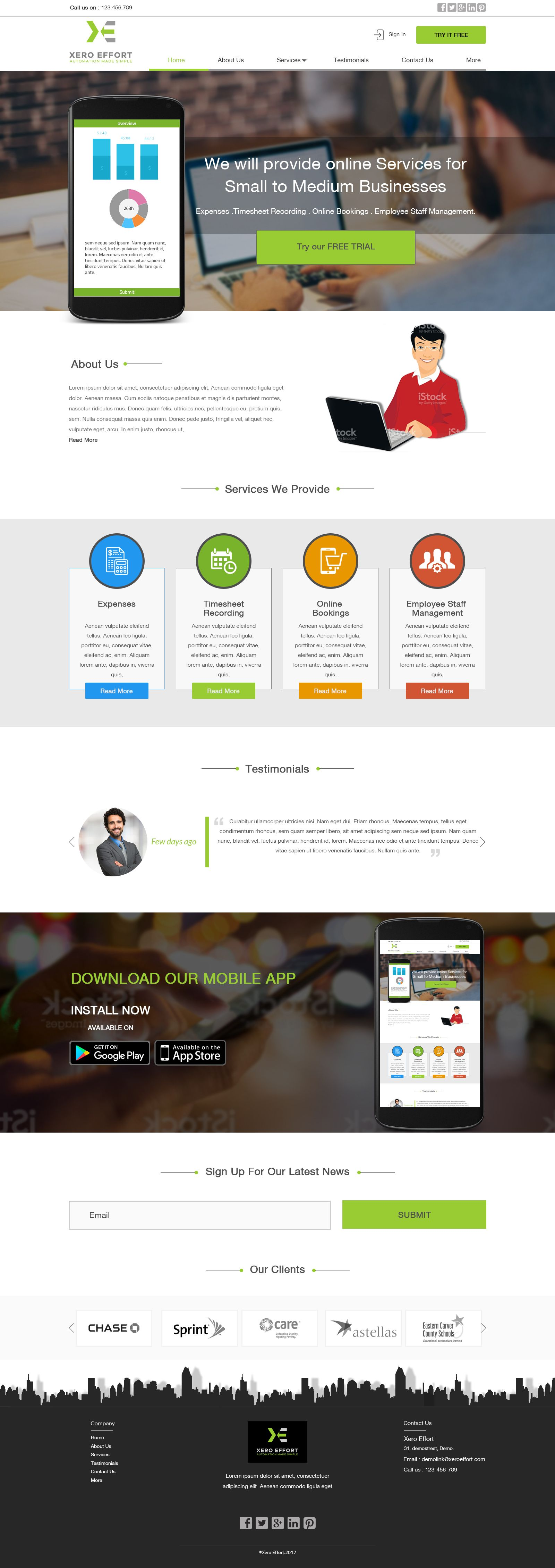 An HR Management Website Design created by Digilife
