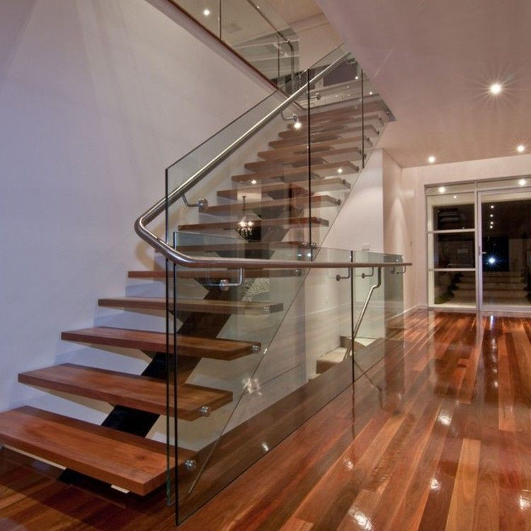 Best Custom Design Stainless Steel Tubular Glass Clear Stair 400 x 300