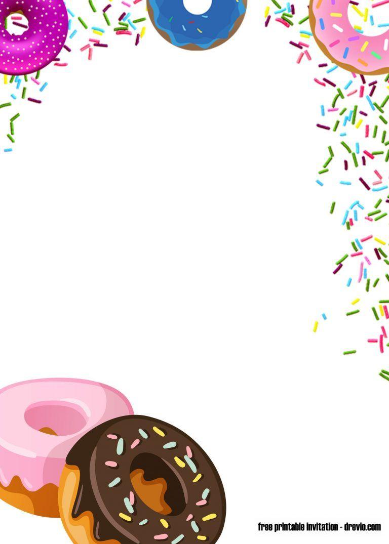 Free Printable Donuts And Pajamas Invitation Templates Free Printable Birthday Invitations Printable Birthday Invitations Free Invitation Templates
