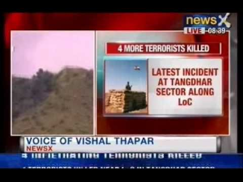 NewsX: Army foils infiltration bid,4 terrorists killed in Tangdhar sector