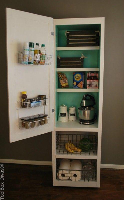 Kitchen Organization Freestanding Portable Pantry Toolboxdivas