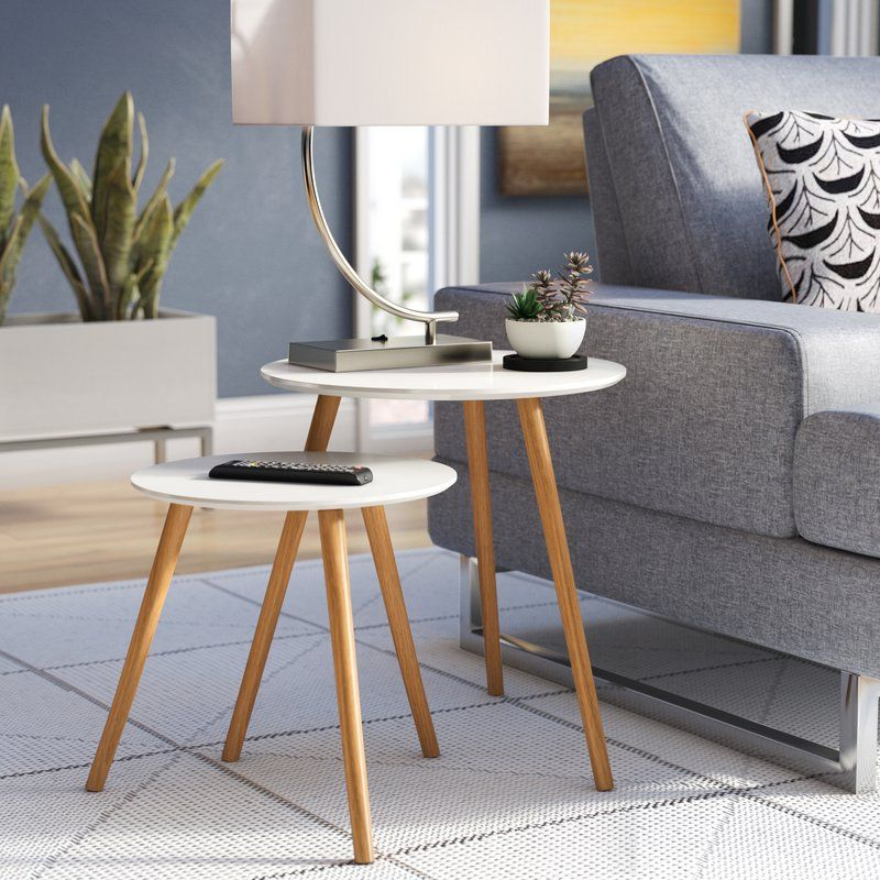 Phoebe 2 Piece Nesting Tables In 2020 Nesting Tables Living Room Nesting Tables Modern Furniture Living Room #nesting #tables #living #room