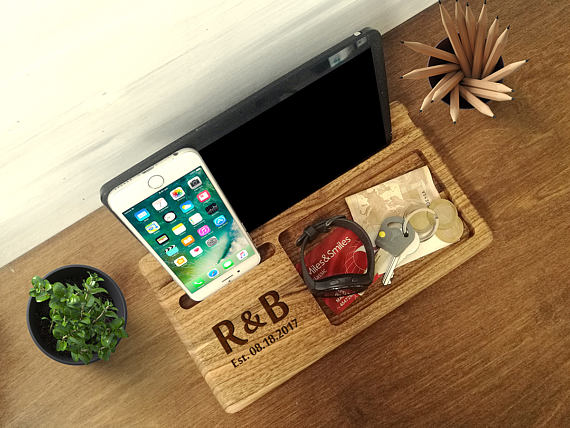 5th Anniversary Gift Wood Docking Station Mens Ideas Christmas For Him Un