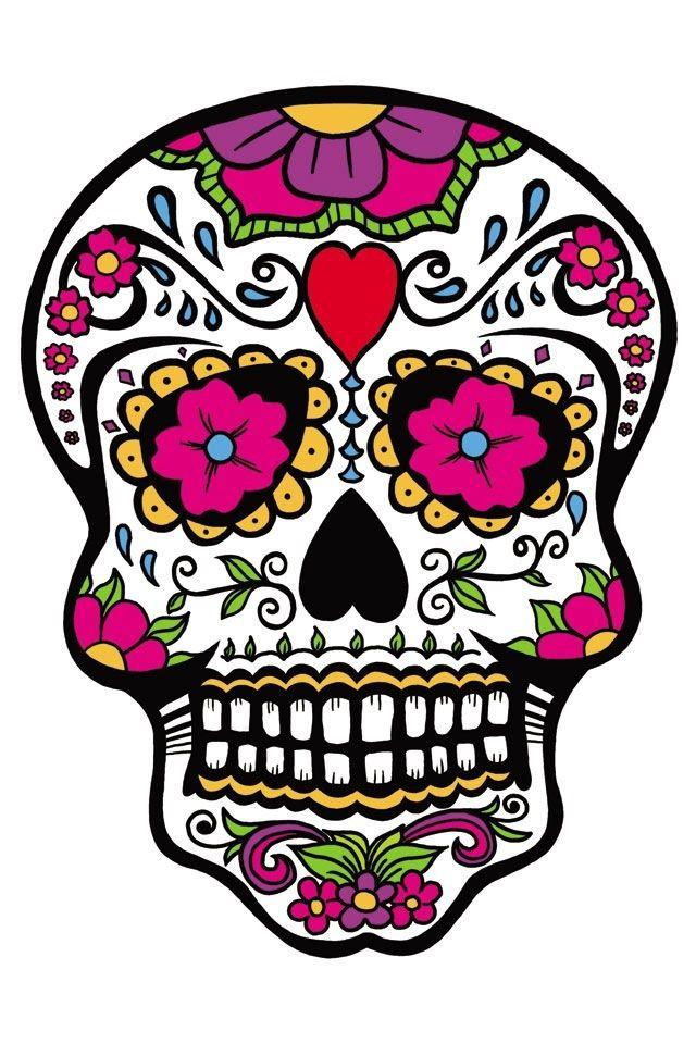 Sugar Skull Tatuajes De Calaveras Mexicanas Arte Del Craneo Calaveras Mexicanas Dibujos