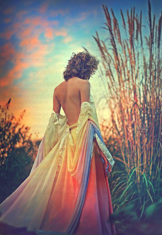 Girl Walking Away In Dress