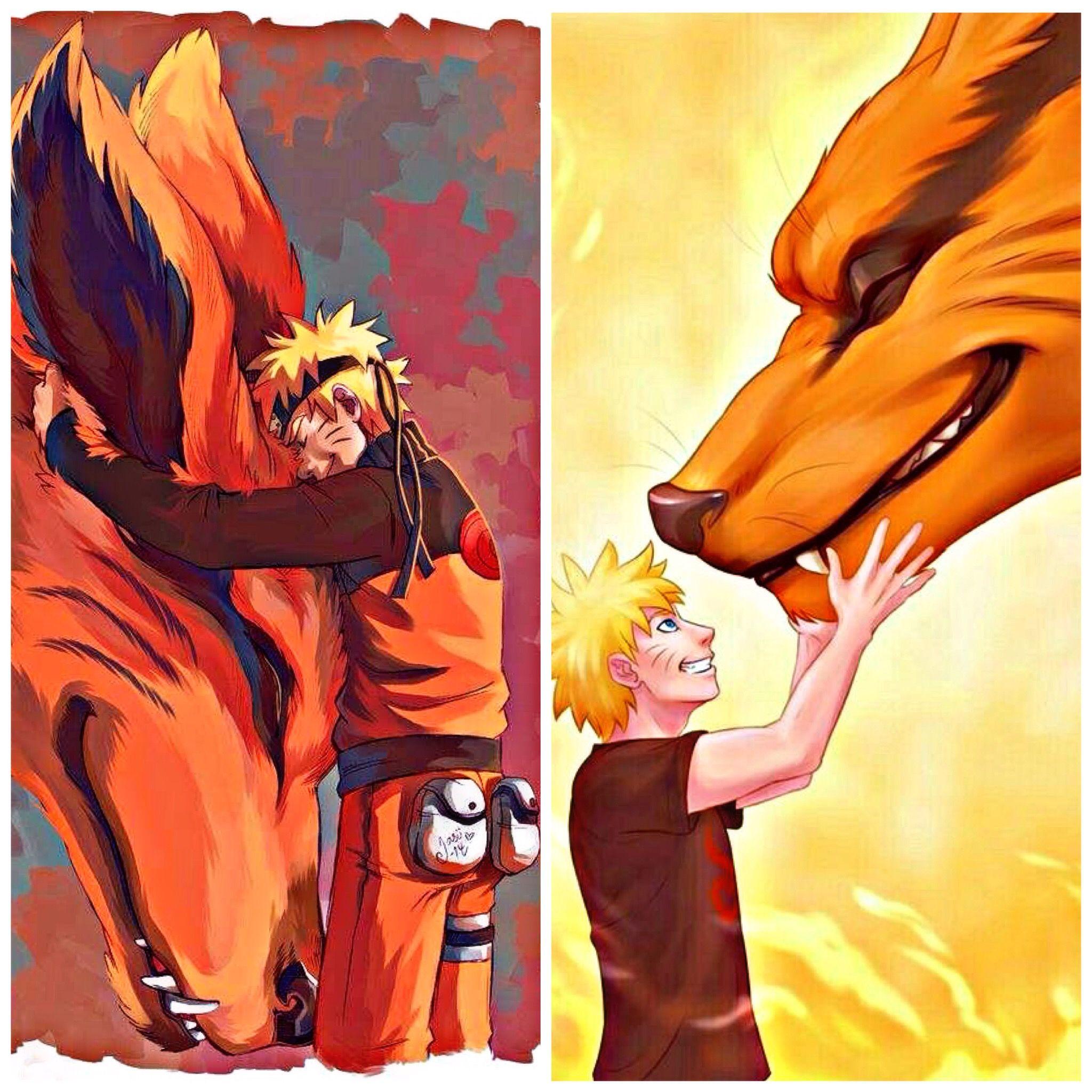 Аниме картинки с наруто с лисом