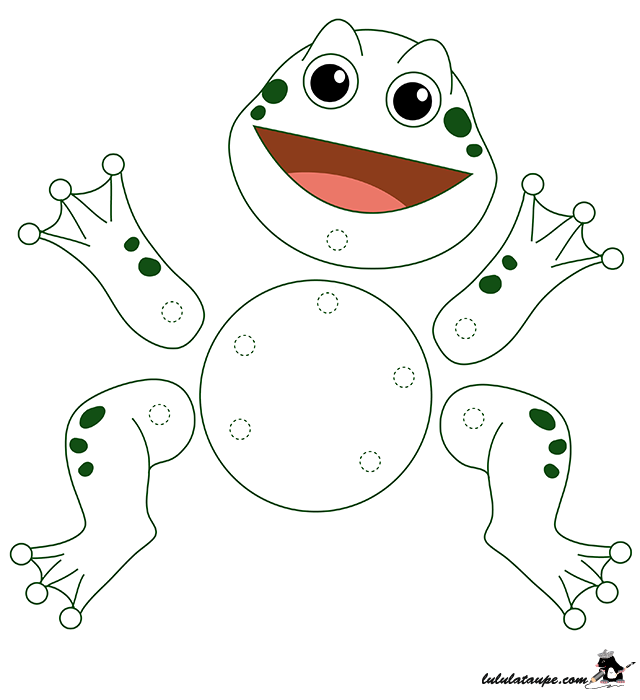 activit manuelle facile une grenouille articul e. Black Bedroom Furniture Sets. Home Design Ideas