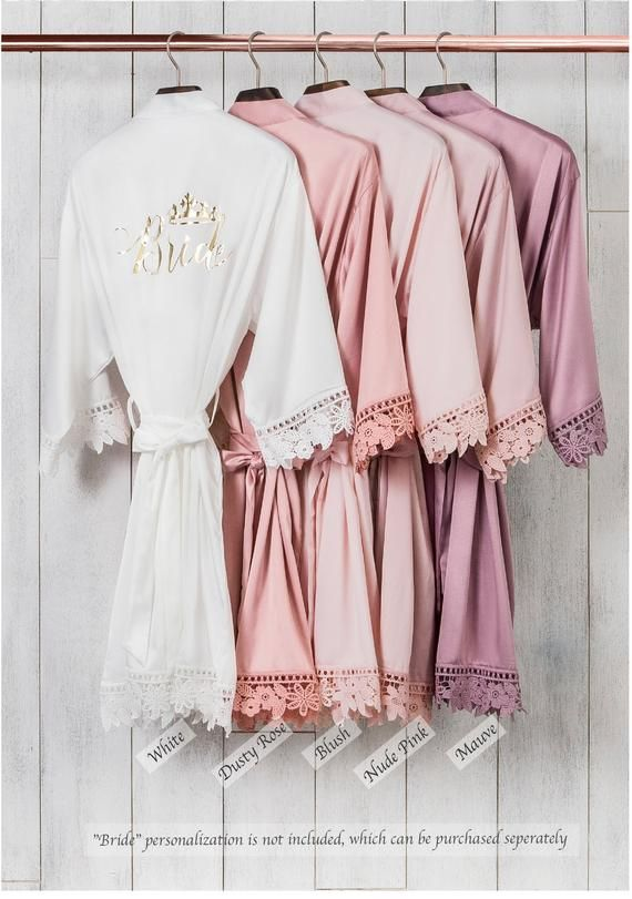 Silky Chunky Lace Robe | Bridesmaid Robes | Bridal Robe | Bridal Party Robes | Bridesmaid Gifts | Bridesmaids Robes | Wedding Party Gift